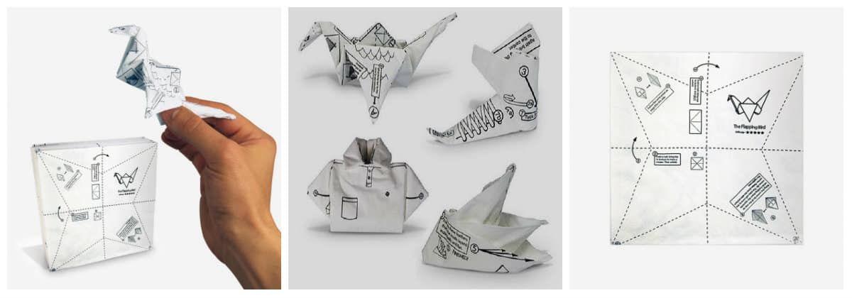 Салфетки Оригами на День Рождения