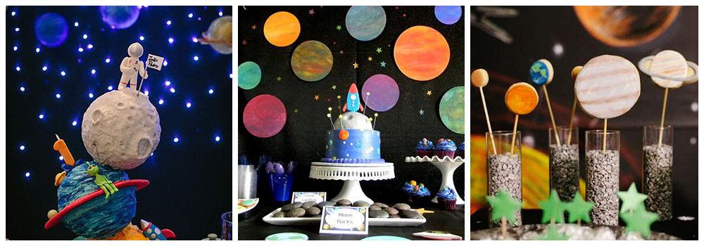 Как украсить комнату ребенка на день рождения в космической тематике