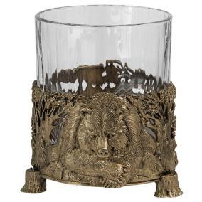"Бокал для виски руководителю ""Медведь"" (хрусталь, бронза) 280 мл от 7 900 руб"