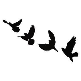 """Панно настенное из дерева """"Птицы"""" (черное) от 690 руб"""