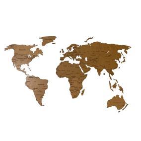Деревянная карта мира 150х80 см Countries Rus с гравировкой стран и городов, кор от 2 490 руб