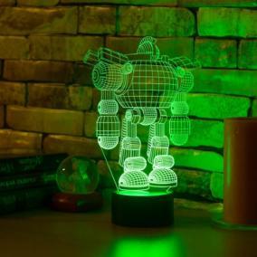 3D светильник «Робот» от 1 890 руб