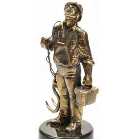 """Бронзовая статуэтка """"Электрик"""" от 3 300 руб"""