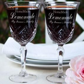 """Набор бокалов с именной гравировкой """"Homemade Lemonade"""" цена от 3 150 руб"""
