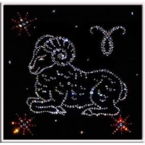 """Картина с кристаллами Swarovski """"Овен"""" цена от 6 900 руб"""