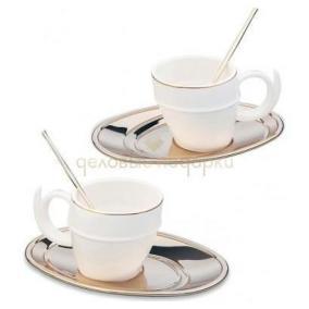 """Сервиз чайный """"Ricciolo"""" на две персоны, золото цена от 9 460 руб"""