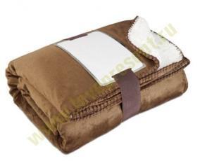 Плед двусторонний, коричнево-белый цена от 1 299 руб
