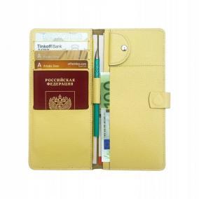 Кожаный холдер для документов Hyper Keeper 2.0 Lemon от 2 500 руб