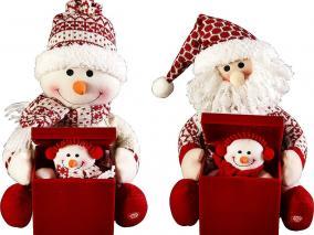 """Электромеханическая игрушка """"Дед Мороз, Снеговик с сюрпризом"""", красная цена от 3 690 руб"""