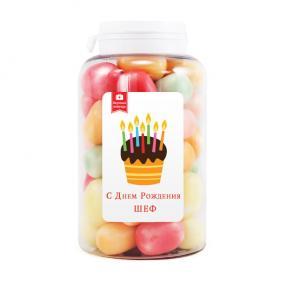 Мармеладная открытка С Днем Рождения Шеф цена от 590 руб