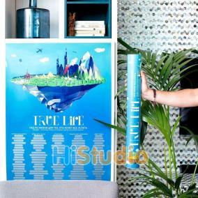 Плакат True Life 100 вещей, которые нужно сделать в жизни цена от 900 руб