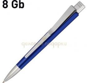 """Ручка с флеш-картой USB 8GB """"GENIUS METALLIC MM"""", темно-синий цена от 1 160 руб"""