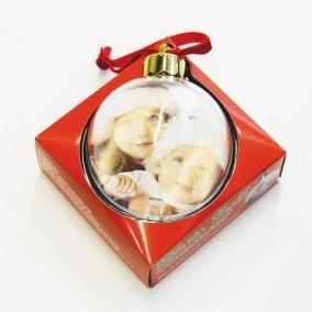 Елочный шар с фотографией цена от 399 руб