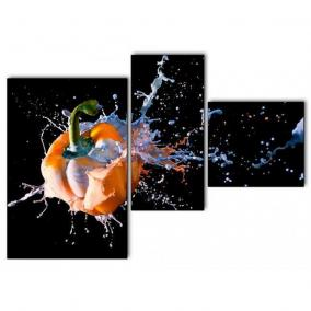 Модульная картина на холсте (3 элемента) цена от 4 940 руб