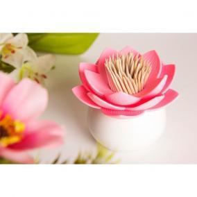 """Держатель для зубочисток """"Lotus"""" белый с розовым цена от 830 руб"""
