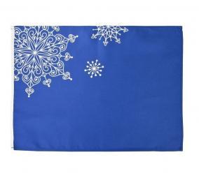 Декоративная салфетка Снежинки, синяя цена от 378 руб