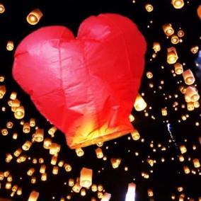 Летающий бумажный фонарик Сердце цена от 150 руб