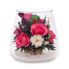 Композиция из розовых роз и орхидей (POMRp) цена от 3 620 руб