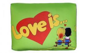 "Декоративная подушка ""Love is..."" (маленькая) цена от 250 руб"