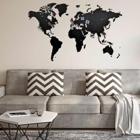 Декоративная Карта мира Wall Decoration Black от 3 390 руб