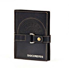 Универсальная кожаная обложка для автодокументов и паспорта, на кнопке от 2 280 руб