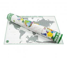 Скретч карта мира в тубусе Премиум от 980 руб