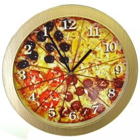 "Часы ""Пицца"" с обратным ходом цена от 900 руб"