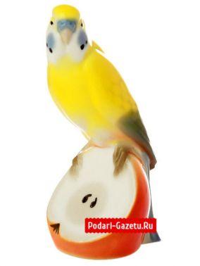 """Скульптура """"Волнистый попугайчик Яшка"""", Императорский фарфоровый завод цена от 3 590 руб"""