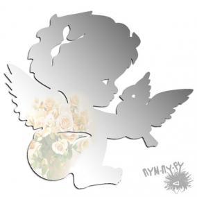 Зеркальный магнит Ангел с птичкой цена от 76 руб