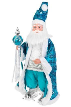 """Украшение """"Дед Мороз с посохом"""", голубое цена от 3 171 руб"""