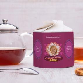 """Чайный набор """"Для самой красивой мамы 2"""" с вашим фото цена от 1 230 руб"""