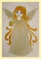 Картина Swarovski «Ангелочек с колокольчиком» купить