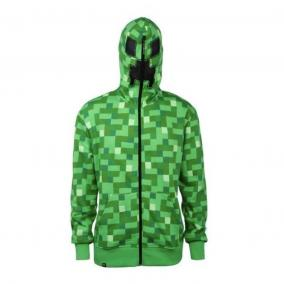 Зеленая толстовка Крипер с капюшоном Майнкрафт цена от 2 450 руб