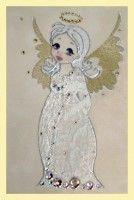 Картина Swarovski «Ангелочек в белом» купить