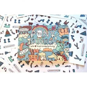 "Стикербук для детей ""Pony Stickers"" цена от 1 500 руб"