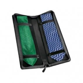 Чехол для галстуков William Lloyd из натуральной кожи, черный цена от 6 700 руб