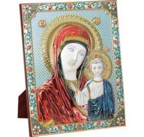 Икона Божьей Матери Казанская, на подставке цена от 18 240 руб