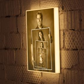 Ваши семейные фотографии на дизайнерском 3D светильнике со сменными постерами от 3 800 руб