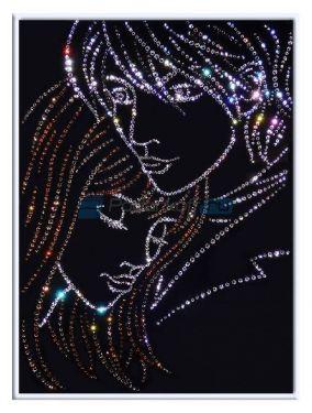 """Картина с кристаллами Swarovski """"Ты и я"""" цена от 14 500 руб"""
