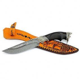 Нож из дамасской стали «Путник»-(Пират) Н109 цена от 9 600 руб