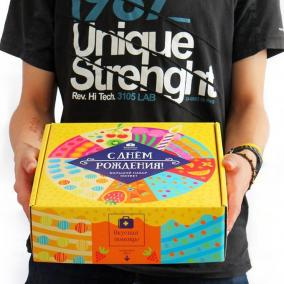 Большой набор конфет «С Днём Рождения» цена от 1 149 руб