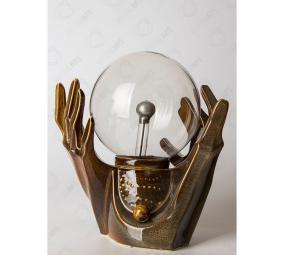 """Плазменный шар светильник с молниями """"Палантир - Руки"""" d 16 см цена от 6 000 руб"""