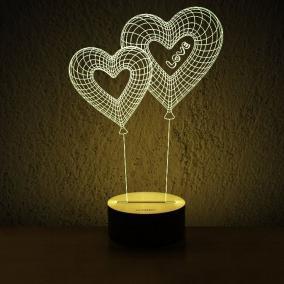 3d светильник Сердца от 1 500 руб
