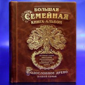 Большая семейная альбом (бордовая кожа) цена от 6 490 руб