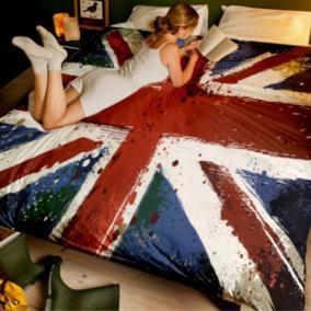 """Постельное белье """"Британский флаг"""", евро цена от 7 220 руб"""