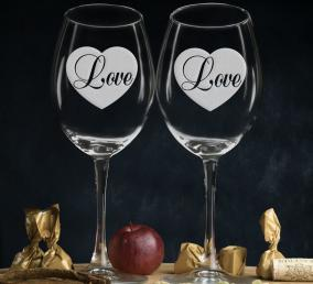 """Комплект бокалов для вина """"Love"""" цена от 1 490 руб"""