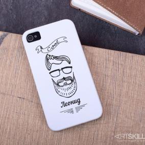 """Именной чехол для iPhone """"Борода"""" цена от 990 руб"""