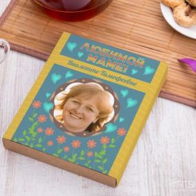 """Чайный набор """"Для любимой мамы"""" с вашим фото (ассорти) цена от 780 руб"""