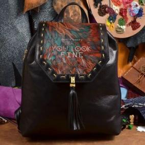 """Женский рюкзак с принтом """"Look_fine"""", черный цена от 6 940 руб"""