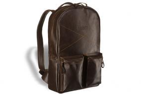 Кожаный рюкзак Brialdi Bismark, коричневый цена от 14 950 руб